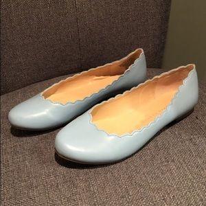Light blue ballet flats